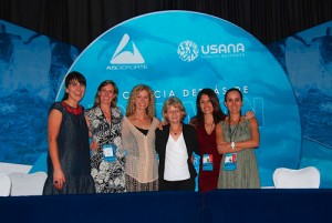 Image of Christina with colleagues at the Science Behind the Ironman in Cozumel, Mexico