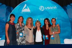Christina with colleagues at the Science Behind the Ironman Conference, Cozumel, Mexico