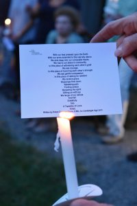 photo from candlelight vigil